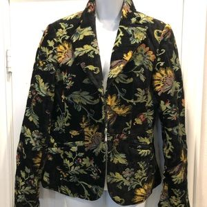 Tapestry Chenille Floral brocade blazer jacket